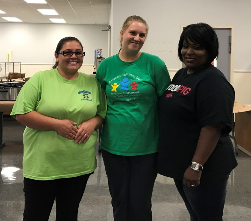 New Cafeteria Employees -- Jackie Hampton, Jessica Born, Tiffany Parker